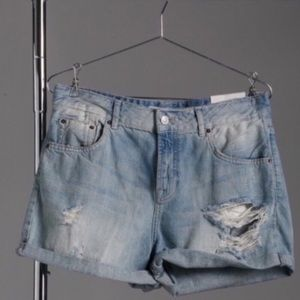 Top Shop Moto Hayden Distressed Jeans Shorts 6